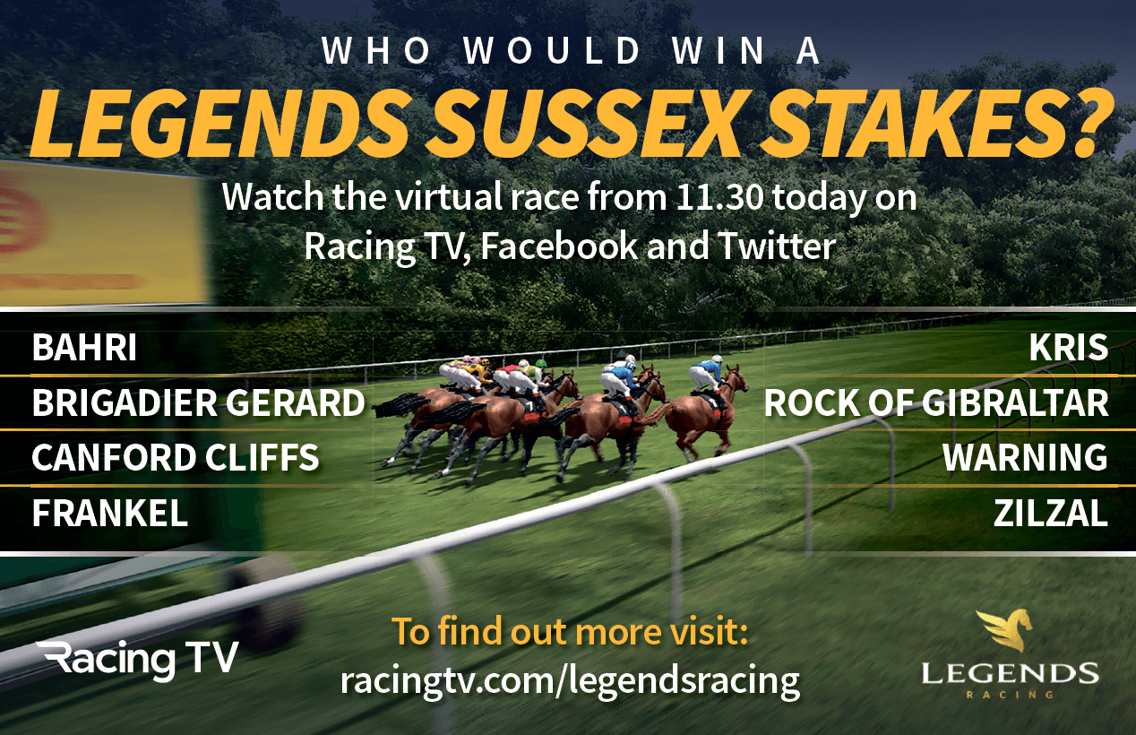WHO WOULD WIN A LEGENDS SUSSEX STAKES? FIND OUT VIA LEGENDS RACING